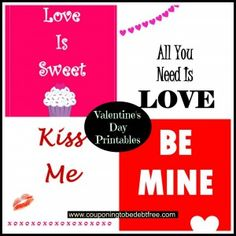 #Valentine's Day printables #DIY #Decoration www.couponingtobedebtfree.com