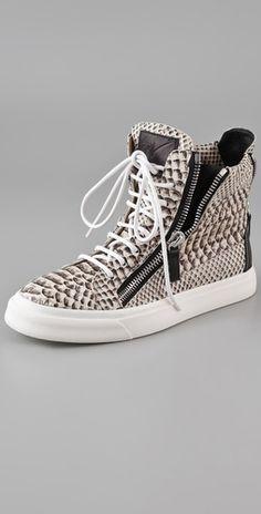 bfaae82e6b2 Giuseppe Zanotti Print Snake Sneakers