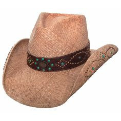 """X-Large """"Country Chick"""" Natural Raffia w/ Gold & Turquoise Studs Cowboy Hats For Sale, Kids Cowboy Hats, Cowgirl Hats, Western Hats, 1960s Fashion, Boho Fashion, Sexy Cowgirl, Country Girls, Hats For Women"""