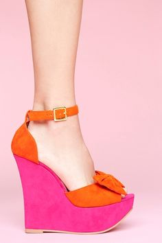Dee Platform Wedge - Colorblock in Shoes at Nasty Gal 4784
