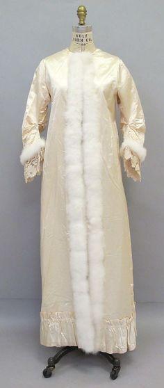 ~Fourth Quarter 19th Century Dressing Gown Culture: American or European Medium: silk, cotton, down~