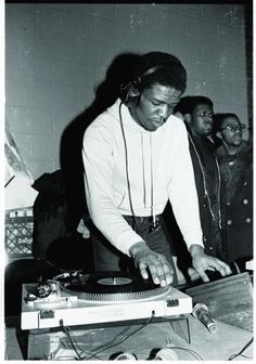 Grand Wizard Theodore was the first person to purposefully scratch a record as a new form of musical expression. cir 1980, Bronx.