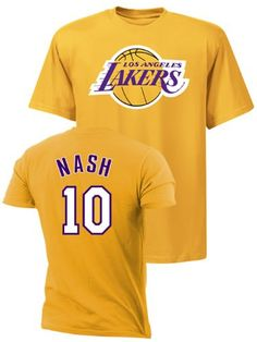 33ae8f84b Los Angeles Lakers Steve Nash Player Name and Number T-shirt – Gold