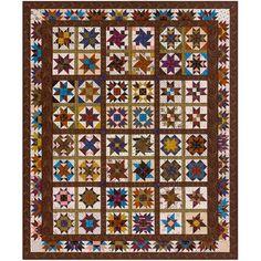 Robert Kaufman Fabrics Mill Pond Jill Shaulis Four Star Generals Quilt Kit
