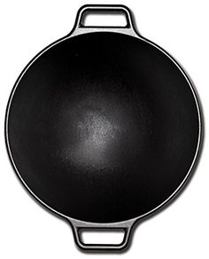 Lodge Pro-Logic P14W3 Cast Iron Wok, Black, 14-inch  With its contemporary style, curved lines and legendary cooking performance, theLodge 14″ Cast Iron Wokis an over-sized vessel that is the perfect size for cooking generous amounts of your favorite stir-fry recipes. The cast iron properties of this wok provide superior heat retention and allows for even heating throughout, ensuring your food is properly cooked. Designed with two assist loop handles which offer a safe, secure grip..