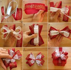 Make a cute bow for your Christmas gifts