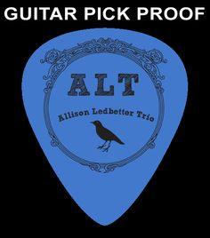 Allison Ledbetter Trio, 1.00mm / Blue Custom Guitar Pick   www.facebook.com/allisonledbettertrio