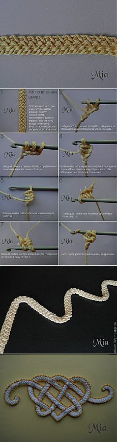 Мастер-класс по вязанию шнура - Ярмарка Мастеров - ручная работа, handmade                                                                                                                                                                                 Más
