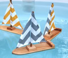 Chevron Stripe Sailboat by TweetToys on Etsy, $20.00