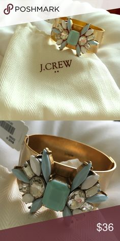 NWT J.Crew Bracelet This is a beautiful gold J.Crew bangle that has tags and the bag. It's beautiful and won't last long! J. Crew Jewelry Bracelets