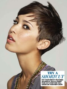 Fo from ANTM rocking short hair #shorthair