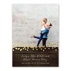 """Rustic Beauty Foil Save the Date Card 