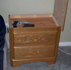 Nightstand with secret compartment