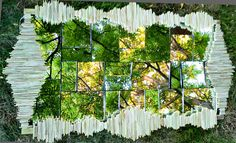 45 ft X 3ft  Green Fortress of Solitude Fractal Mirror by YNOART, $1200.00