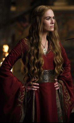 Cersei Lannister burgundy dress