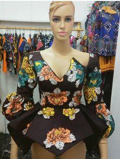 Ankara Peplum Tops : 2020 Latest Ankara Peplum Tops to Wow This Season - Ankara Styles And Dresses African Fashion Designers, African Fashion Ankara, Latest African Fashion Dresses, African Print Dresses, African Print Fashion, Africa Fashion, African Dress, African Attire, African Wear