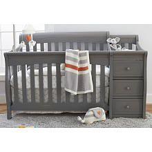 sorelle princeton elite crib and changer weathered gray - Sorelle Cribs
