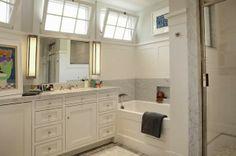 I love the transom windows in the bath