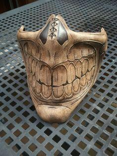 Steampunk biker skull Grin Half  Mask by SkinzNhydez on Etsy, $210.00