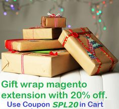 Big sale. Gift wrap #magento extension with 20% off at http://mage-extensions-themes.com/magento-extensions/giftwrapper.html. Use coupon SPL20 in cart.