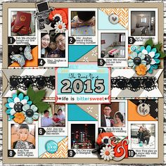 DEC 2015 SSD Bingo Challenge: Year end round up Universal Album 5 templates by Cindy Schneider  Life Is Bittersweet by Amanda Yi  Layered Cards: Family - Set 2 by Cindy Schneider