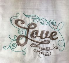 Faith Hope and Love Embroidered Kitchen Tea Towel Set by OnParCraftCreations $20.00
