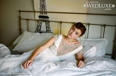 """WedLuxe: """"Belle-Fleur"""" photo shoot inspired by romantic trip to Europe from  Jana Vackova Photography. Bride is wearing a beautiful Jenny Packham #gown."""