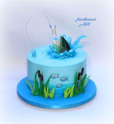 Fishing Cake - cake by Alll Fishing Theme Cake, Gone Fishing Cake, Fishing Gifts, Fly Fishing, Fishing Rods, Fishing Cakes, Fishing Pliers, Fishing Guide, Magnet Fishing