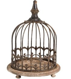 Birdcage Cloche And Footed Base