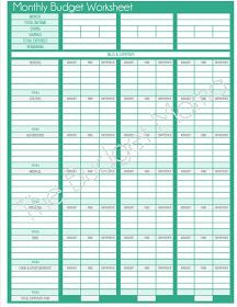 Printables Budget Helper Worksheet budget monthly worksheets and on pinterest