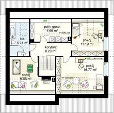 Projekt domu Alfa 3 98.35 m² - Domowe Klimaty House Entrance, Case, Ground Floor, Floor Plans, House Design, Flooring, Building, Modern, Home Decor