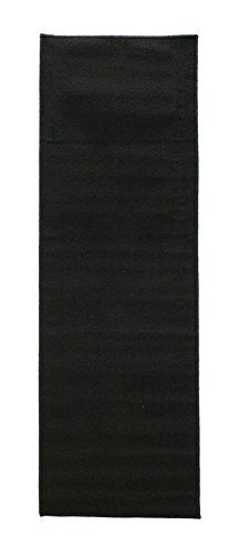 Ritz Accent Rug with Latex Backing 20-Inch by 60-Inch Runner Black