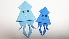 SQUID ORIGAMI TUTORIAL | ORIGAMI FOR KIDS - YouTube