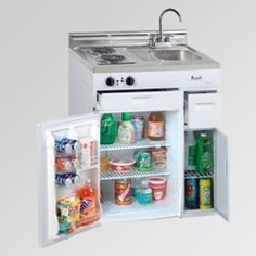Compact Kitchen - 30 Inch Compact Kitchen in White.. ships fully assembled in one box, generally in 1-3 days.