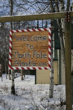 images of santas workshop north pole - Google Search  Great sign to duplicate