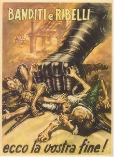 Italian Fascist propaganda poster from World War II. Vintage Italian Posters, Poster Vintage, Ww2 Propaganda, Ww2 Posters, Roman History, Pretty Art, Japan, Vintage Advertisements, World War Ii