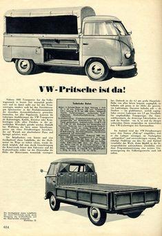 German VW type 2 single cab ad