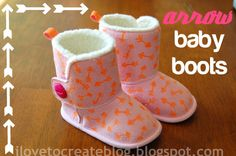 iLoveToCreate Blog: Arrow Baby Boots