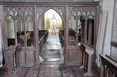 Windrush St Peter Chancel screen by Henry Woodyer 1873-4 -88 http://www.bwthornton.co.uk/