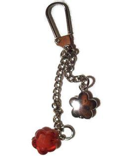 Flower Key chain SALE Bag charm Pursecharm by TwinklePinkJewelry, €5.00