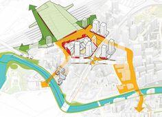 Architectural Drawing Design Sasaki Reshapes Shanghai's Suzhou Creek « Landscape Architecture Works Urban Design Diagram, Win Competitions, Urban Analysis, Site Analysis, Concept Diagram, Suzhou, Master Plan, Urban Landscape, Landscape Sketch