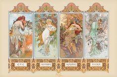 The Four Seasons Poster Print by Alphonse Mucha, 36x24 Poster Print by Alphonse Mucha, 36x24 by Poster Revolution, http://www.amazon.com/dp/B000UZVOQO/ref=cm_sw_r_pi_dp_ntpqrb1NPYCNN