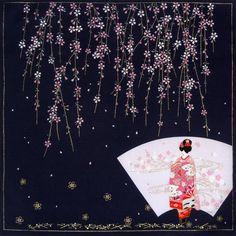 /Furoshiki 50/x 50/ /Maiko e Sakura Japonmania/