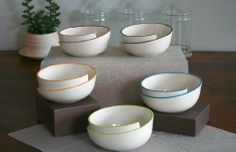 Whirl Bowl with Blue Accent from Kim Westad