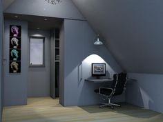 Ontwerpvoorstel zolderkamer met inloopkast