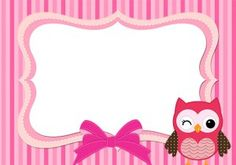Owl Name Tags, Baby Gift Wrapping, Boarders And Frames, School Frame, Owl Cartoon, Baby Images, Name Stickers, Owl Patterns, Baby Owls
