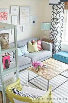 Apartment Living Room Color Ideas 14 ways to make a small living room bigger | lucite furniture