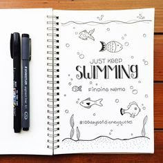 Finding Nemo illustrated typography | Disney Quotes | © Shannon McNab