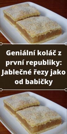 Czech Recipes, Sweet Life, Yummy Treats, Cheesecake, Bakery, Deserts, Food And Drink, Tasty, Sweets