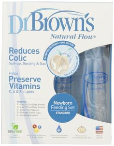 Dr. Brown's BPA Free Polypropylene Natural Flow Bottle Newborn Feeding Set Dr. Brown's,http://www.amazon.com/dp/B001IXYOD2/ref=cm_sw_r_pi_dp_5836sb13HGBPRYDV